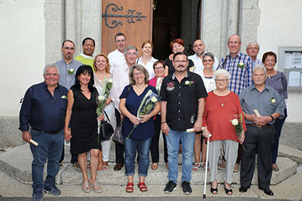 Jubilaires mariages 2018 Collombey